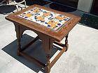 Taylor Catalina California Tile Walnut Side Splay Table Arts Crafts