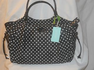 Kate Spade Stevie Dot Black Baby /Travel Bag NWT WKRU1613 $395.00