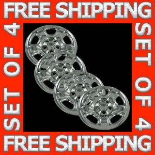 Wheel Skins Hubcaps Covers Hub Cap Set Free Ship (Fits Jeep Liberty