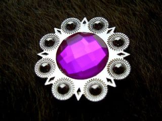 BERRY AB CRYSTALS BLING CONCHOS HORSE SADDLE HEADSTALL TACK BRIDLE