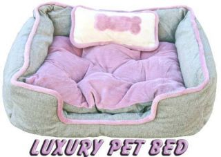 NEW LUXURY DELUXE DOG CAT BED DELUXE PET BEDS + PILLOW (LPB)