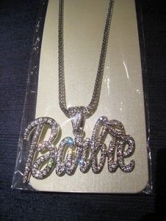Nicki Minaj BARBIE Pendant Necklace *Hip Hop Bling*
