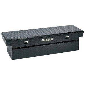 Tradesman Truck 60 Cross Bed Low Profile Black Aluminum Toolbox