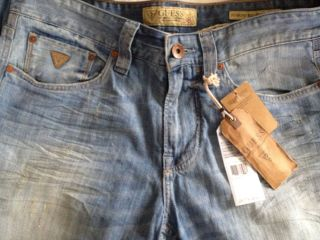 GUESS NEW Mens DESMOND Relaxed Straight Jeans