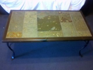 REDUCED~~~~Awesome Pier 1 Coffee or Accent Table~Slate, Wood & Metal