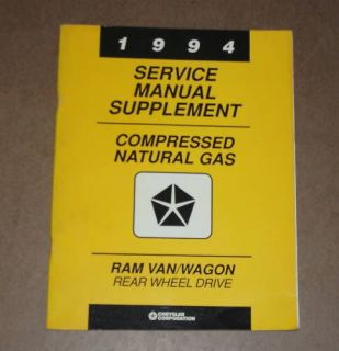 1994 Dodge Ram Van Wagon CNG Dealer Service Manual OEM