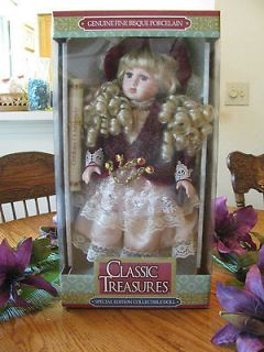 Limited Edition Genuine Fine Bisque Porcelain Doll   Classic Treasures