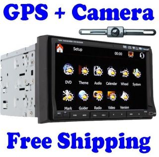 Auto GPS Sat Navigation System 2 Din In Deck Car DVD Player Touch