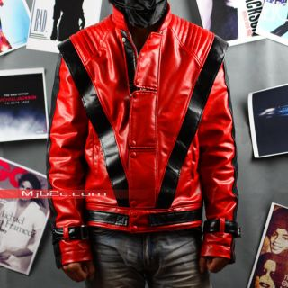 MJB2C  Michael Jackson Costume Thriller Jacket Red