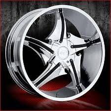 22 inch VCT Escobar chrome wheels Rims 6x135 +30
