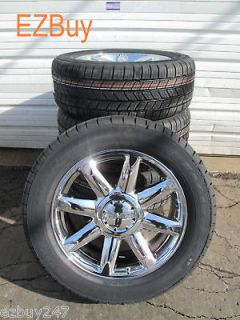 YUKON DENALI FACTORY CHROME WHEELS 5304 GOODYEAR TIRES BRAND NEW SET