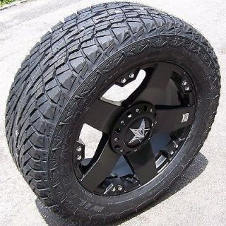 20 BLACK ROCKSTAR WHEELS FALKEN WILD PEAK AT TIRES CHEVY SILVERADO