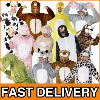 Animal Fancy Dress Zoo Farm Book Adult Unisex Mens Ladies Halloween