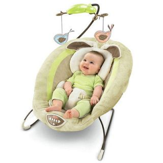 FISHER PRICE BABY MY LITTLE SNUGABUNNY BOUNCER SEAT CHAIR NEW