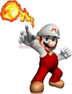 Choose Size   FIRE SUPER MARIO Decal Removable WALL STICKER Decor