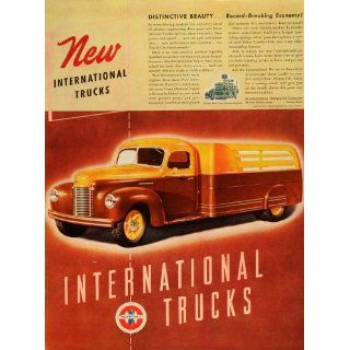 1941 Ad International Harvester Co Logo Trucks Green