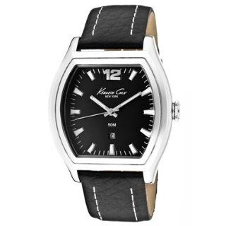 New York Leather Black Dial Mens watch #KC1274BK Watches