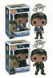 Funko MICHAEL JACKSON 3.75 POP VINYL FIGURES Set of 2 MILITARY & BAD
