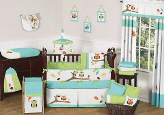 CHEAP FOREST OWL THEMED GENDER NEUTRAL BABY BOY GIRL CRIB BEDDING SET