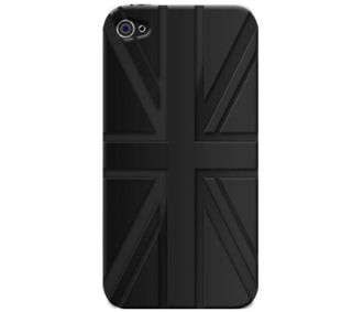 APPLE Black Union Jack Silicone Cover for iPhone  Pixmania UK