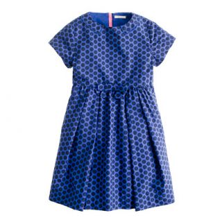 Girls back zip dot dress   party   Girls dresses   J.Crew