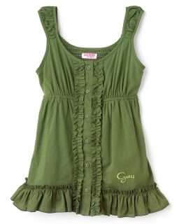 GUESS Kids Girls Ruffled Tank Top   Sizes S XL