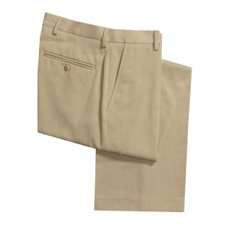 Flat Front Dress Pants (For Men) in Deep Sand