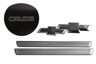 Billet Door Sills, Bowtie Emblems & Gas Tank Covers for Chevy Cruze