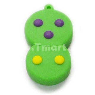 8GB Topaz Snowman Cartoon USB Flash Drive Grass Green   Tmart