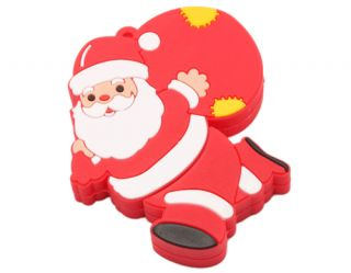 1GB Santa Claus Cartoon Style USB 2.0 Flash Memory Drive with Gift