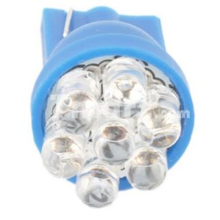 T10 7 LED Car Wedge Light Bulbs Blue   Tmart