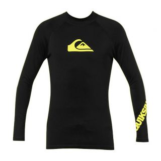 Quiksilver All Time Long Sleeve Snug Fit Surf Shirt   Mens   FREE