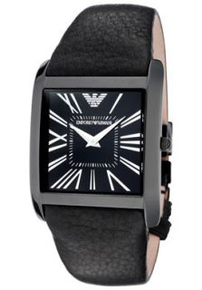 Emporio Armani AR2027 Watches,Womens Super Slim Black Dial Black