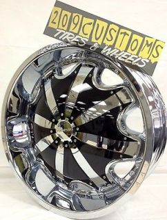 22 INCH RIMS WHEELS +34 RW130 CHROME 5X108 JAGUAR S TYPE 2003 2004