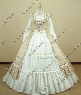 Victorian Gothic Lolita Dress Ball Gown Prom Steampunk Punk D190 XL