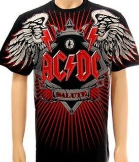 AC/DC T Shirt Heavy Metal Rock Men Sz M Angus Young Hard Biker Rider