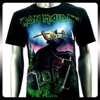 Iron Maiden Heavy Metal Rock Punk T shirt Sz M Biker Vtg Men