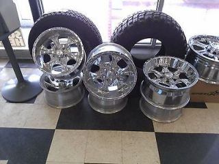 17 X 9 HELO MAXX CHROME WHEELS 5x4.75 120mm HE791 FITS S 10 SANOMA