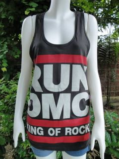 RUN DMC King Of Rock Tank Top T Shirt S/M