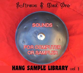Hang PanArt SAMPLE LIBRARY   Sounds of Hang Drum to use in computer
