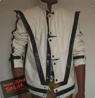 Michael Jackson Thriller Style White jacket Free Billie Jean Glove