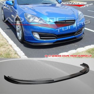 FIT FOR 10 12 HYUNDAI GENESIS COUPE SPORT FRONT BUMPER LIP SPOILER PU