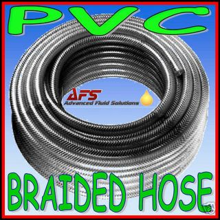 Reinforced CLEAR PVC Braided Hose Water Pipe Flexible Plastic Food Air