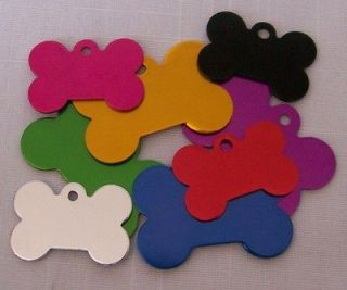 Bone Shape Pet/Dog ID Tag LOT OF 2 TAGS Choose size/color ENGRAVED