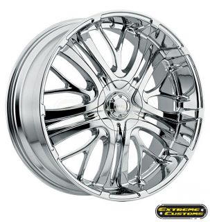 22 x9.5 500 Incubus Alloys Paranormal Chrome 5 6 Lugs Wheels Rims FREE
