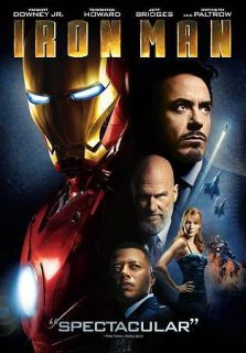 Iron Man (DVD, 2008, Widescreen) Robert Downey Jr. Jeff Bridges