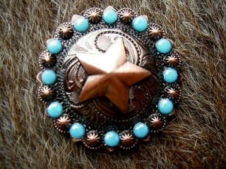 BERRY TURQUOISE CRYSTALS BLING CONCHOS HORSE SADDLE HEADSTALL TACK