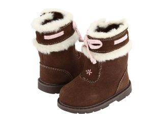 NWT BABY DEER BROWN SUEDE INFANT TODDLER GIRL BOOTS SHOES SIZE 2 3 4 0