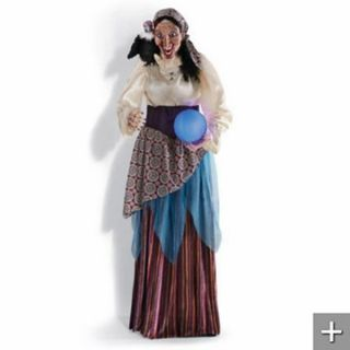 Gypsy Fortune Teller with Sound &Crystal Ball Halloween Prop New