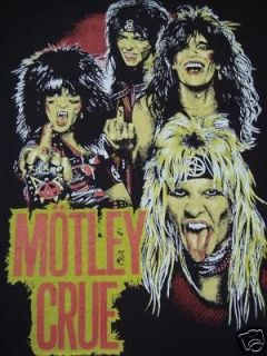 MOTLEY CRUE tour jkt backpatch IRON MAIDEN JUDAS PRIEST OZZY DIO shirt
